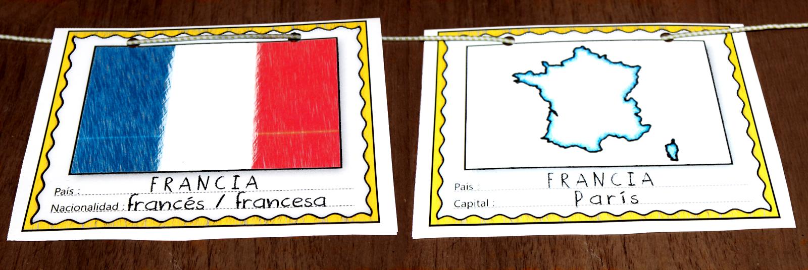 Me encanta escribir en español: Banderas y capitales de los paises ...