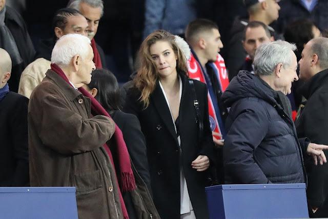 Barbara Palvin at Football match of PSG vs Nantes in Paris