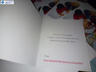 Folded Greeting Cards - Isuzu Autoparts Manufacturing Corporation