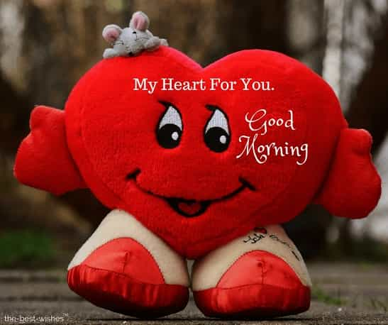 good morning my love my heart for you