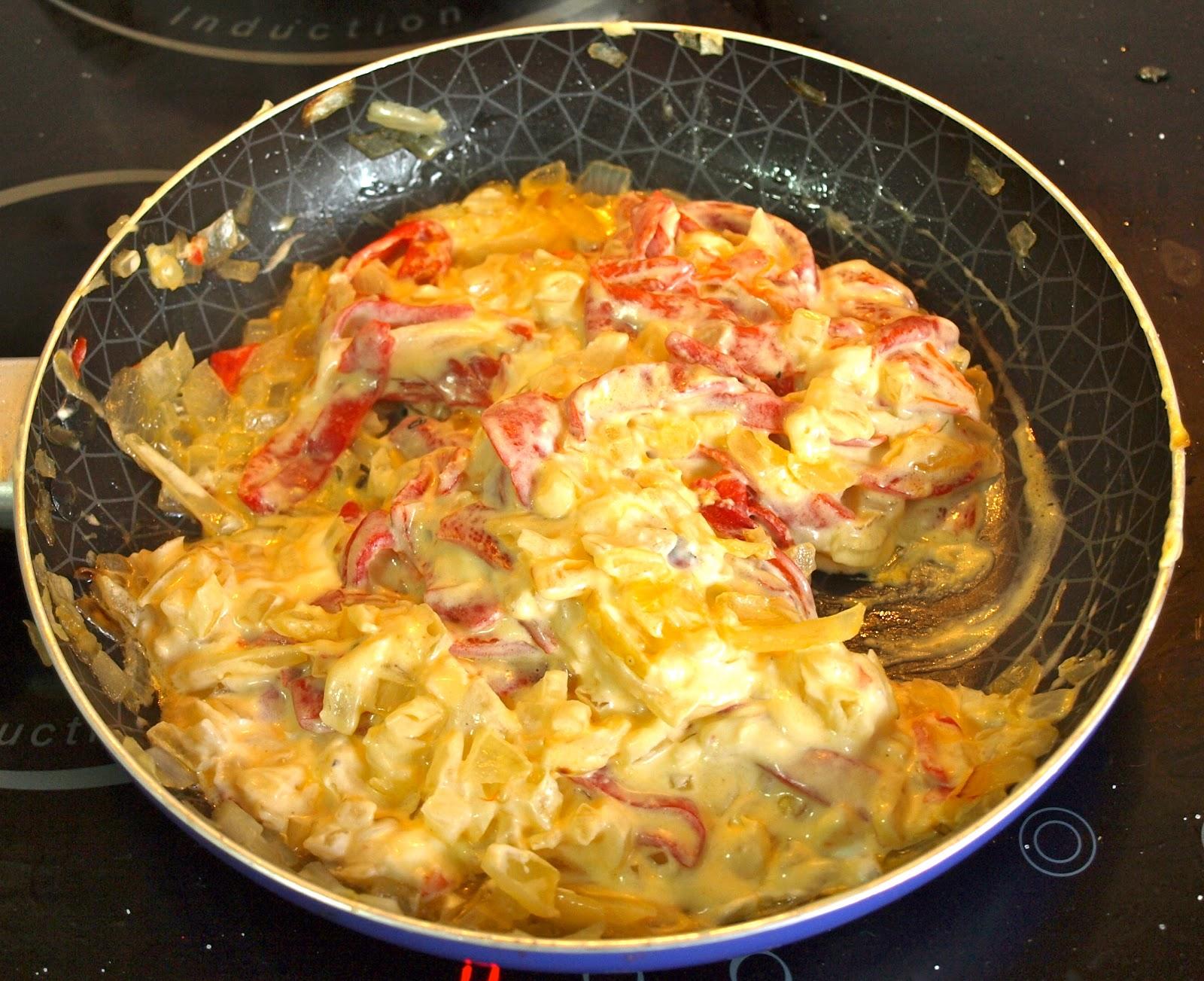 Cocinar es vivir y bordar tambi n pimientos rellenos de for Cocinar 180 grados