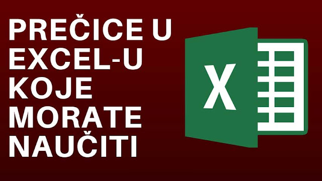 Prečice za Excel