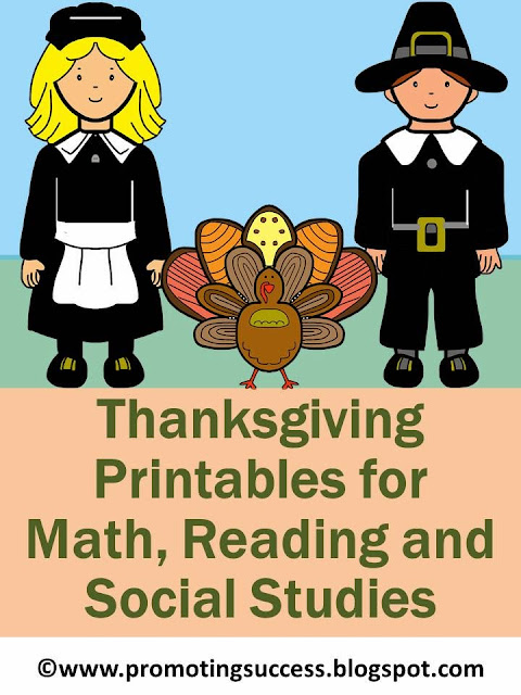 Thanksgiving Printables for Math Reading Social Studies Teachers Pay Teachers Promoting-Success