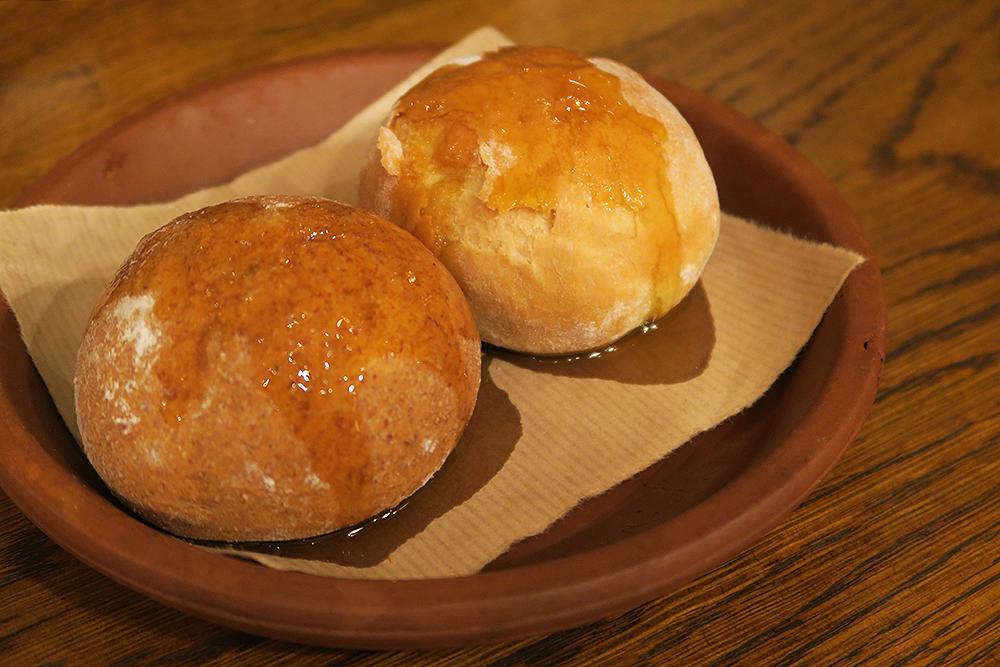Bread rolls at Firelake in Radisson Blu, Leeds