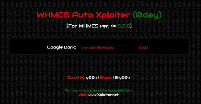 WHMCS 0day Auto Exploiter - 5.2.8