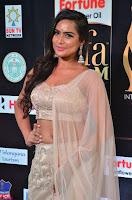 Prajna Actress in backless Cream Choli and transparent saree at IIFA Utsavam Awards 2017 0031.JPG