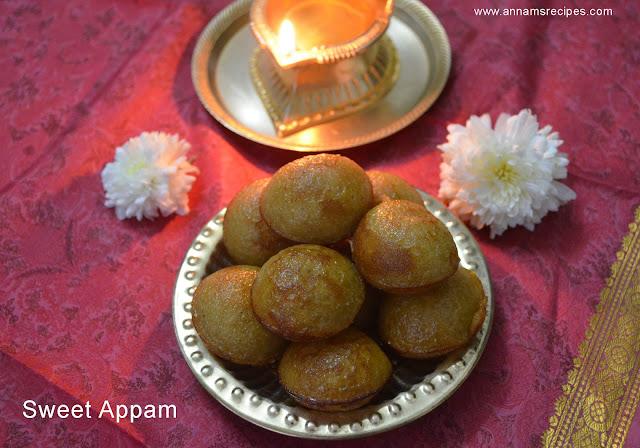 Sweet Kuzhi Paniyaram Recipe