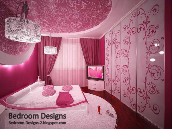 Pink Master Bedroom Designs With Two Large Chandeliers