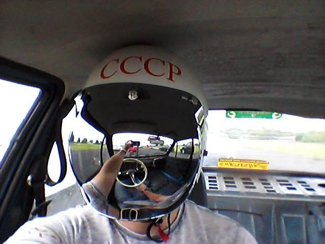 So, the CCCP Bubblevisor helmet went drag-racing...