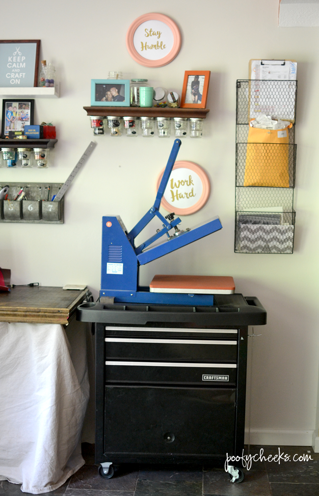 Vinyl and Heat Press Rolling Storage