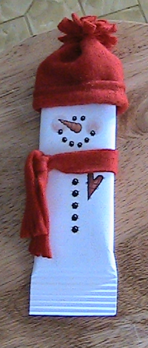 Gloria's Gallery: Snowman candy bar wrapper