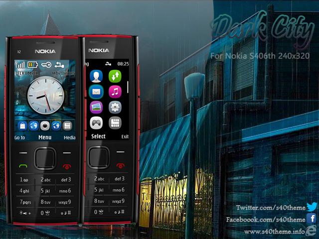 Dark City theme free Nokia Asha 206, X2-00, X2-02, X2-05, Nokia 301, Nokia C2-05