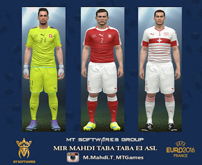 PES 2016 Switzerland Euro 2016 Kit by MT Games 1991