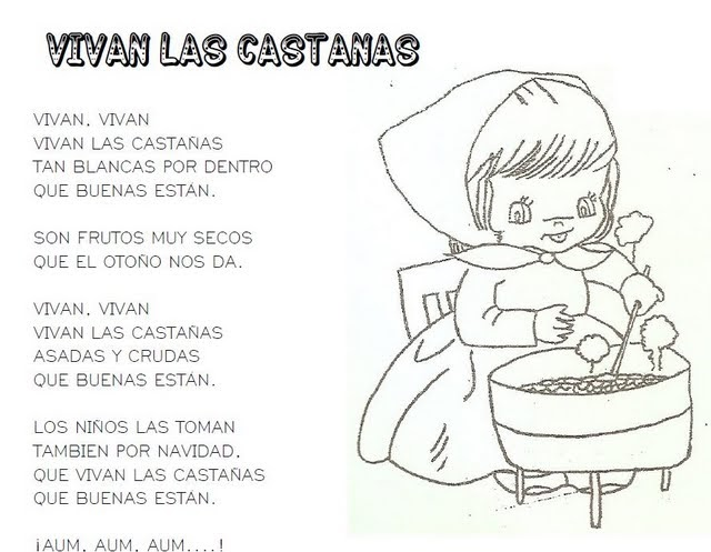 Dibujos De Castanas Para Colorear E Imprimir: ESOS LOCOS BAJITOS DE INFANTIL: POESÍA DE LA CASTAÑAS