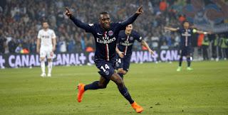 Blaise Matuidi célébrant un but sous les couleurs du PSG