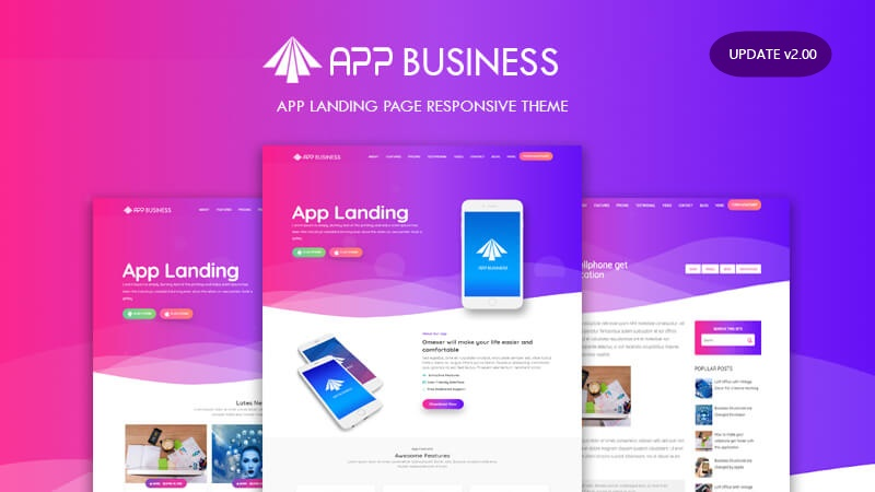App Business Landing Page v2.00  - Responsive Blogger Template