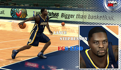 NBA 2K14 Lance Stephenson Cyberface Patch