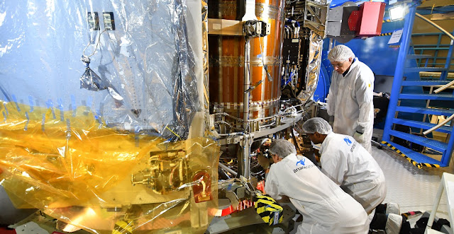 Technicians instal the radiators on the European Service Module for NASA's Orion spacecraft marking the module's finished integration. Credit: ESA