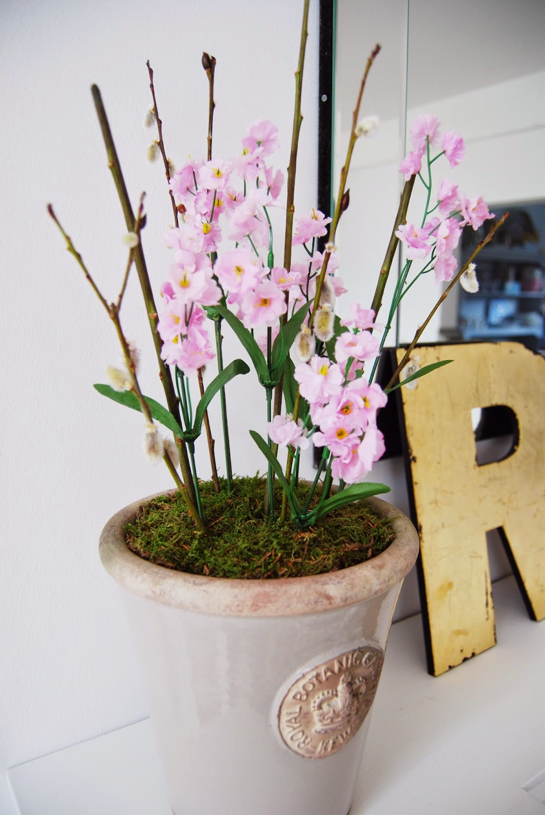 Brick Dust \u0026 Glitter & Artificial Flower Plant Pots | Brick Dust \u0026 Glitter