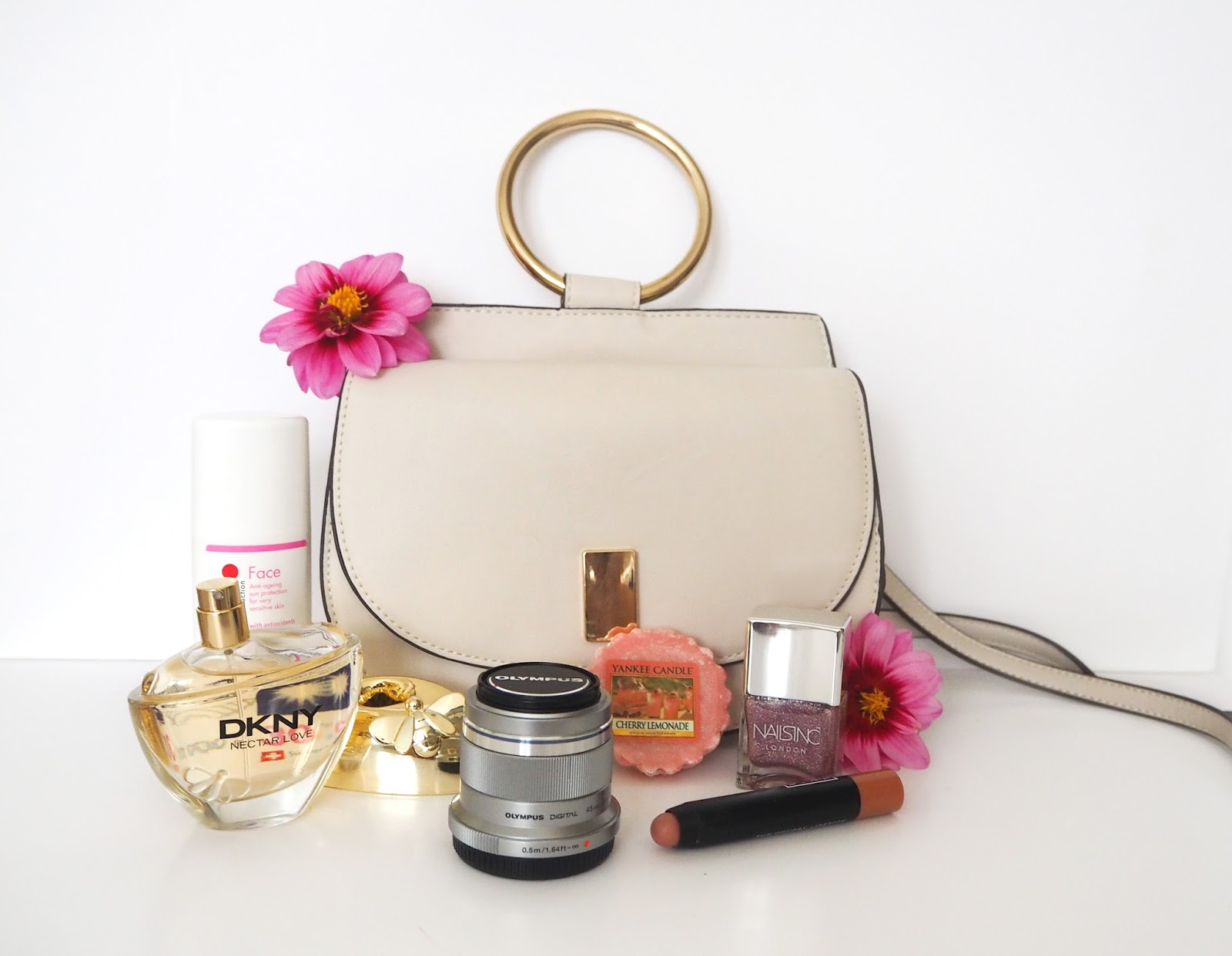 Loves List: August, Katie Kirk Loves, UK Blogger, Beauty Blogger, DKNY Nectar Love, Nails Inc, Mango Bag, Olympus Pen, Olympus 45mm Portrait Lens, Ultrasun Face 30, Ultrasun Suncream, 3ina Makeup, Fashion Blogger