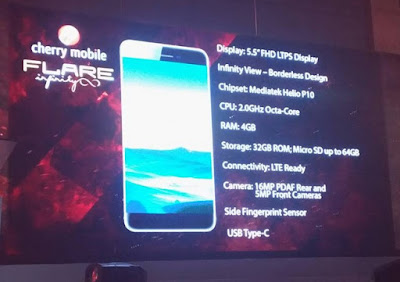 Cherry Mobile Flare Infinity Now Official; 5.5-inch Edge-To-Edge Display, Helio P10, 4GB RAM for Php12,999