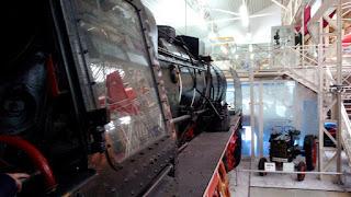 Blick aus dem Führerhaus einer Lokomotive