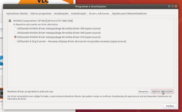 Instalando Drivers Nvidia no Ubuntu