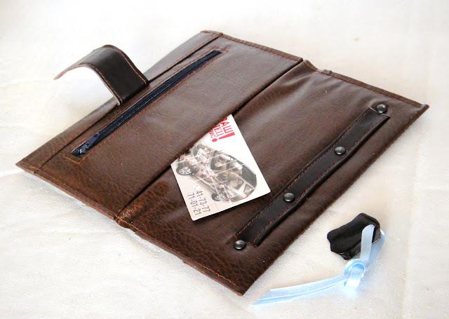 Кожаный кошелек бумажник для автодокументов - подарок мужчине, кожаное портмоне водителя