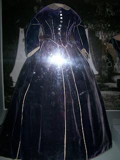 Mary Todd Lincoln's purple velvet dress.