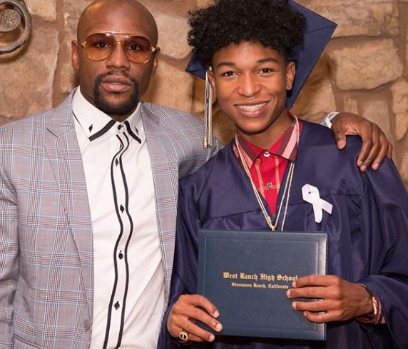 'I'm so proud of my son for doing something that I didn't do... graduating from high school' - Floyd Mayweather
