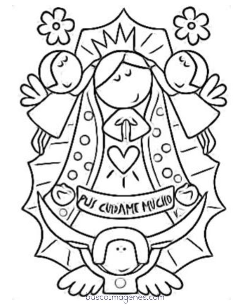 Atractivo Nuestra Dama De Guadalupe Para Colorear Ideas - Enmarcado ...