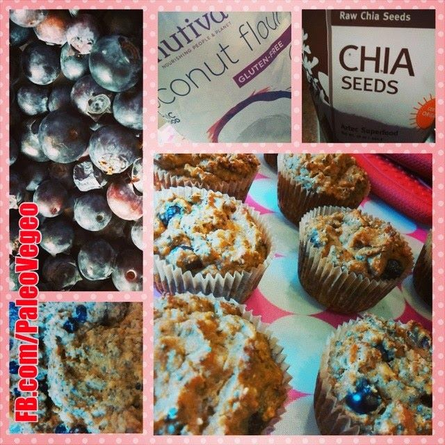 Barbara Christensen I Challenge Compliant Blueberry Chia Coconut Applesauce Breakfast Muffins Oh My I Nourished In 30 I Paleo Vegeo Recipe