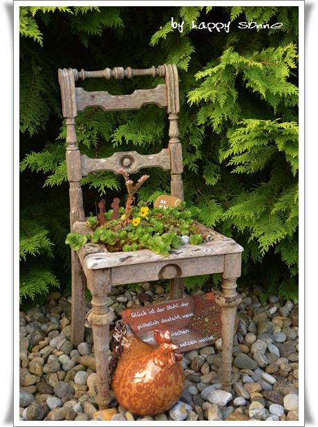 Happy Sonne Gartendeko Aus Abfallmaterial