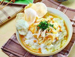 Kandungan Kalori Bubur Ayam, Nasi Kuning dan Nasi Uduk per 100gr