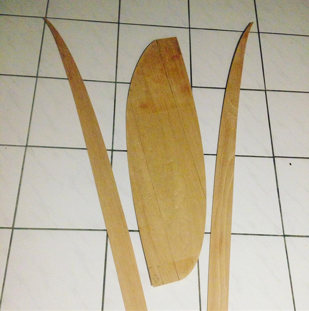 Wood buddha building wood surfboards march 2017 for Making a surfboard template