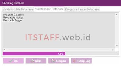 Proses Maintenance Database EASY6 - ITSTAFF.web.id