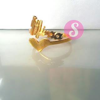 cincin nama lapis emas polos - miraa