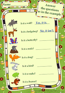 forest animals answer simple questions esl worksheet