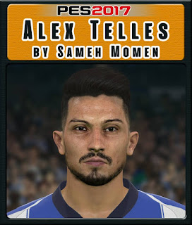 PES 2017 Faces Alex Telles by Sameh Momen