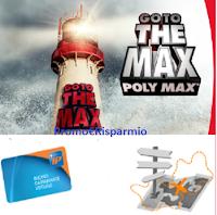 Logo Con Bostik Poly Max vinci 19 carnet di buoni carburante da 150€ e voucher viaggio da 3.000€