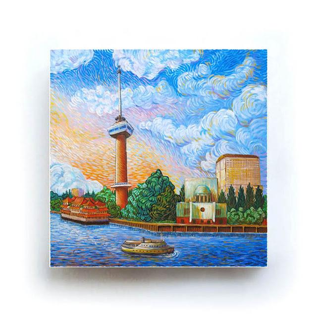 Rotterdam Euromast Like Van Gogh