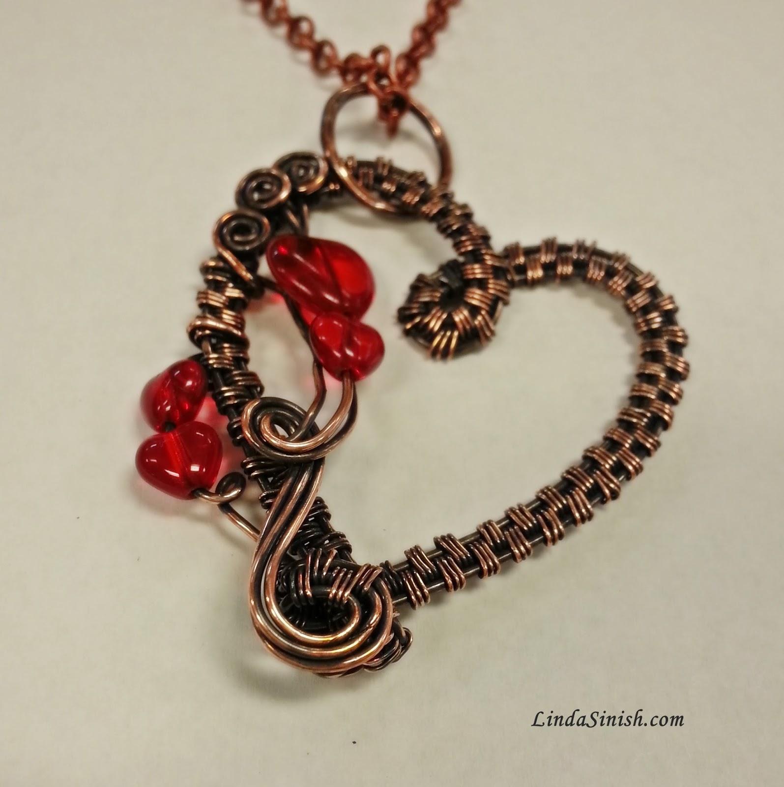 Artyzen Studio by Linda Sinish: Woven Wire Heart Pendant