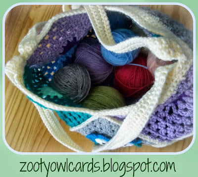 crochet granny bag