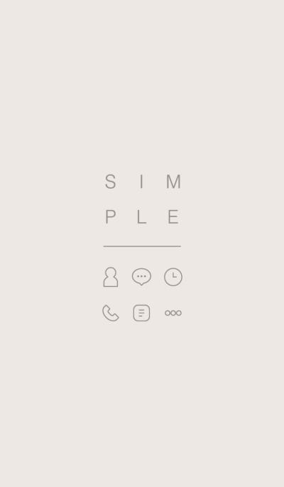 SIMPLE / beige-ivory