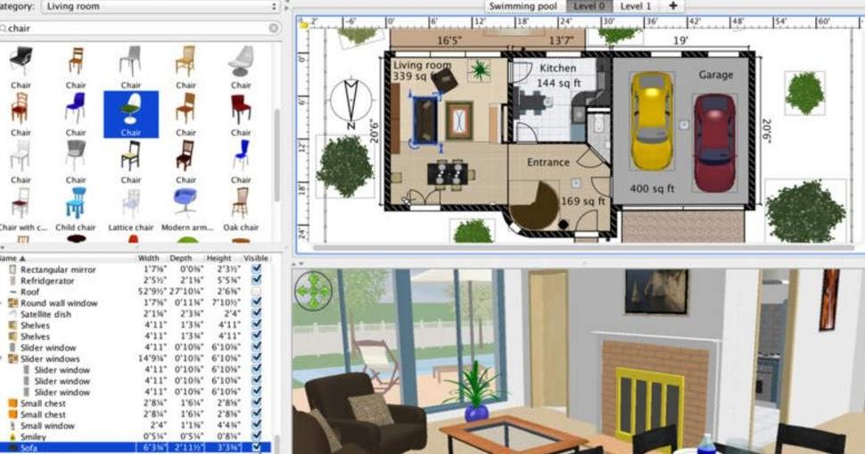 Progettare casa arredare stanze e interni in 3d for Software per progettare interni