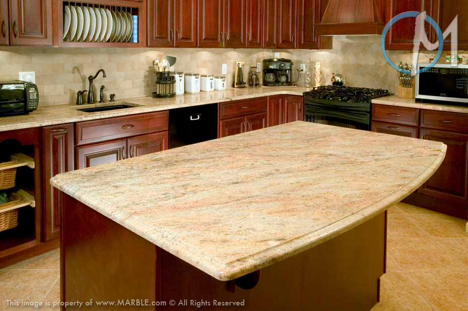 Wonderful Kashmir Gold Granite Kitchen Countertops