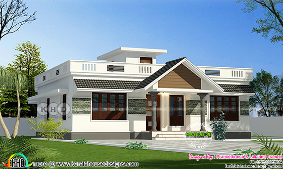 House plan and elevation by Pramodkumar and Lakshmi Pramod