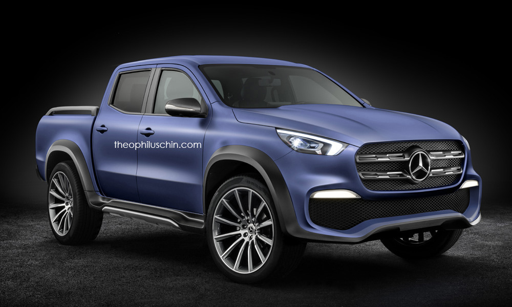 mercedes benz x class looks set to rule the work site carscoops. Black Bedroom Furniture Sets. Home Design Ideas