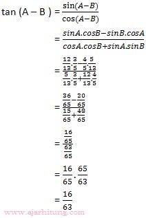 Contoh Soal Dan Pembahasan Tentang Trigonometri Ajar Hitung