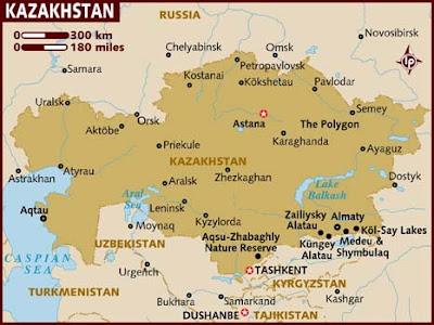 Mapas Geográficos do Cazaquistão